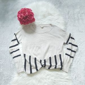 Yet Again Tie Knot Front Super Soft Long Sweater